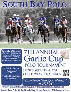 Garlic Cup Tournament @ South Bay Polo | Gilroy | California | United States